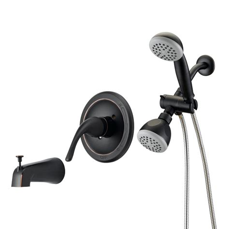 Tub Shower Faucet Combo by Designers Impressions 654708 Rubbed Bronze Single