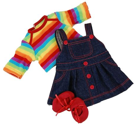 doll clothes rainbow skirt for 15 quot american 168 bitty baby doll