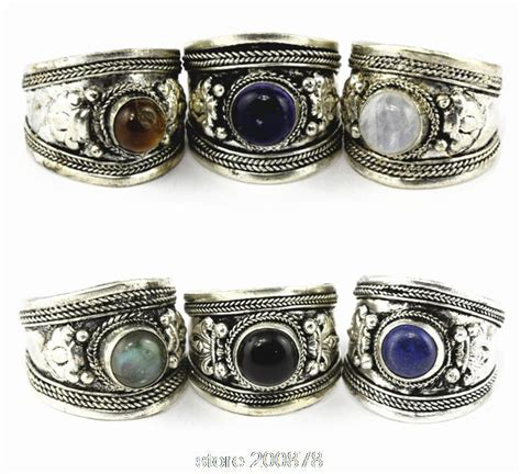 r003 tibetan silver inlaid various glass bead dorje