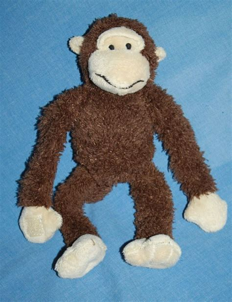 stuffed animal swing dan dee monkey brown plush soft stuffed animal toy