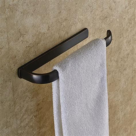 oil rubbed bronze towel bars for bathrooms rozin oil rubbed bronze bathroom towel rail wall mounted