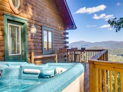 mountaintop log cabin wpanoramic view  vrbo