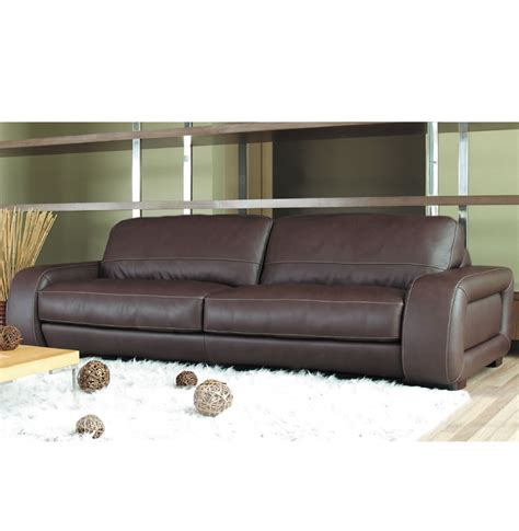 Diego Leather Sofa Diego Sofa 7 Foot Leather Sofa In Brown Leather Or Creme Contempo Space
