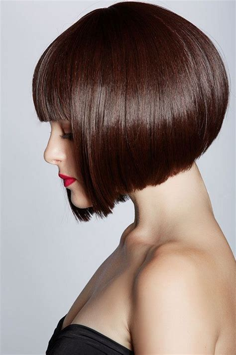 inverted blunt cut pretty inverted bob with blunt bangs styles weekly