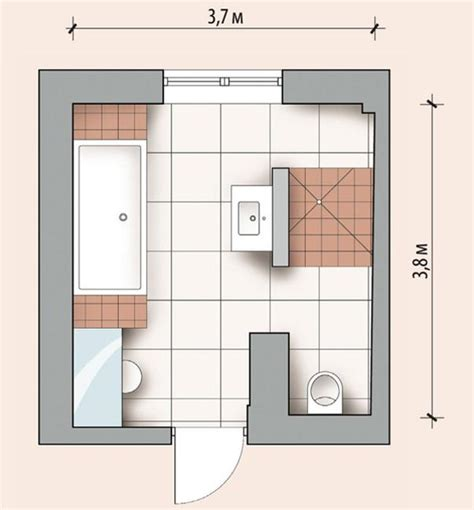 Design Bathroom Layout | personalized modern bathroom design created by ergonomic