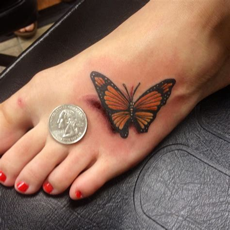 tattoo n 3d 3d butterfly tattoo with coin on foot for women sweet n