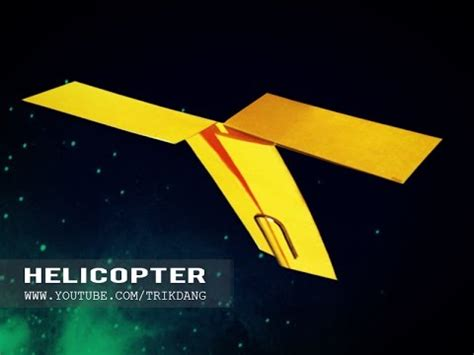 How To Make An Origami Helicopter - origami for easy paper airplane that flies