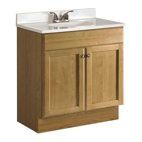 30 x 18 bathroom vanity shop project source oak integral single sink bathroom