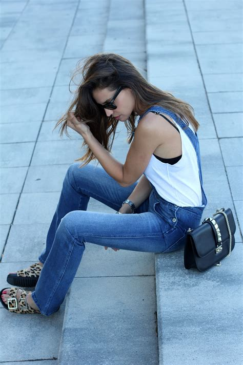 Is Wearing A by How To Wear Denim Overalls In Summer 2014 Just