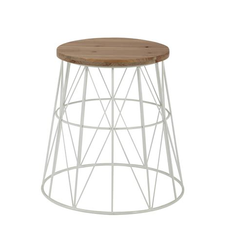 45 cm side table metal side table in white w 45cm summer maisons du monde