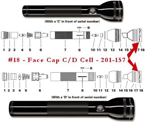 maglite parts diagram image gallery maglite parts