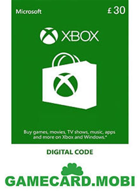 Xbox 360 Gift Card Template by Microsoft Xbox Live 30 Gbp Gift Card Xbox 30 163 Pounds