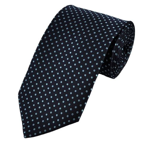 navy light blue polka dot patterned s tie from ties