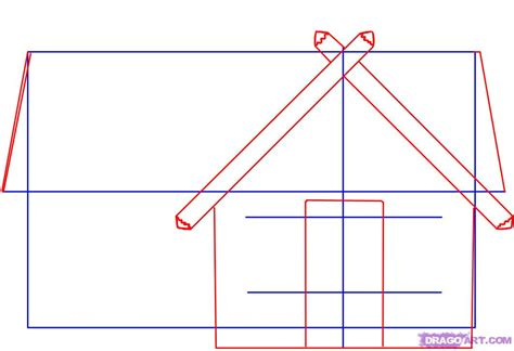 how to create doodle how to draw a log cabin house step by step buildings