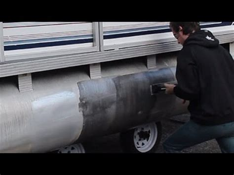 homemade boat cleaner how to clean polish aluminum pontoons in less than 60