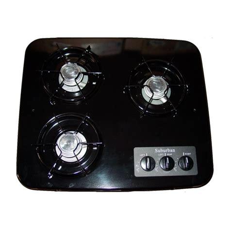 3 Burner Cooktop Suburban 2938abk 3 Burner Drop In Cooktop Black