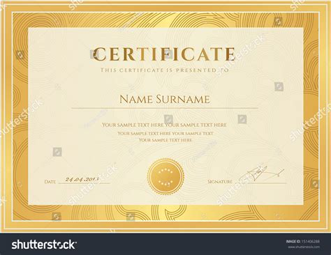 certificate scroll template certificate diploma completion template background gold