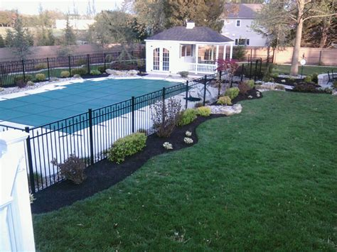 swimming pool landscaping glamorous 60 inground pool landscaping decorating