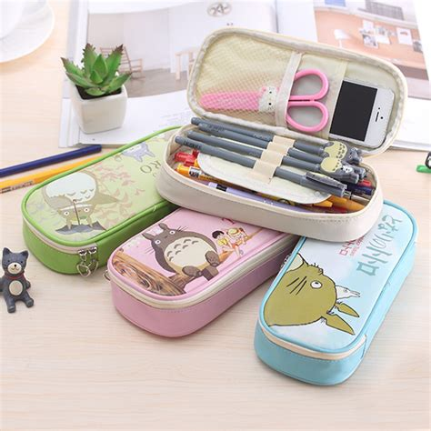 8 Adorable Stationery Kits by Anime Totoro Pen Bag Korean Creative