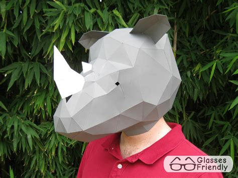 printable rhino mask make your own rhino mask with just paper and glue