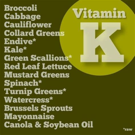 Detox Tea And Warfarin by Best 25 Vitamin K Ideas On Vitamin A Foods