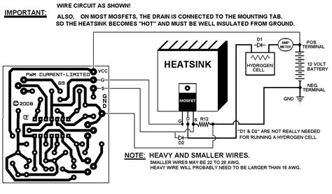 nte electronics circuit pwm for hho electrolysis water