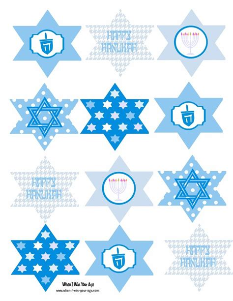 printable hanukkah decorations free printable hanukkah cupcake toppers hanukkah