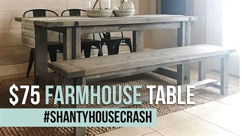 farmhouse table remix how to build a farmhouse table 75 farmhouse dining table build shantyhousecrash youtube