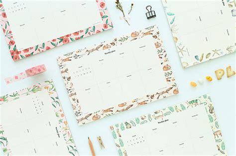 Cat On Weekly Plan Memopad Planner Mingguan weekly notepad weekly planner memo pad 2018 planner 2018 diary 2018 journal bullet