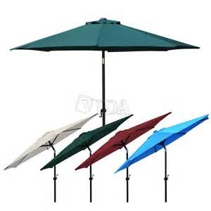8 Ft Patio Umbrella 8 9 10 Ft Aluminum Outdoor Table Patio Umbrella Market Yard Crank Tilt