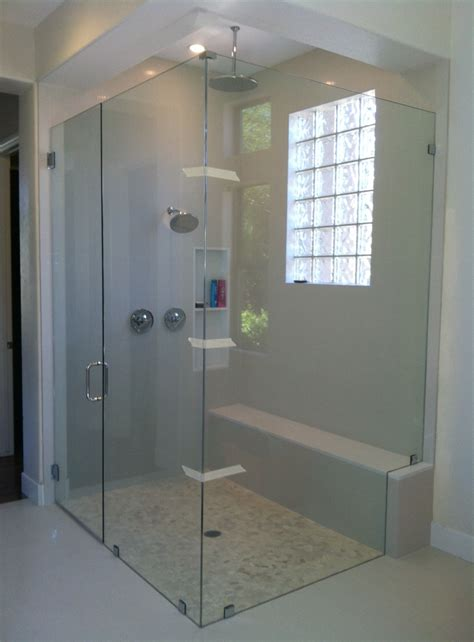 frameless shower door with chrome hardware kerabath com blog