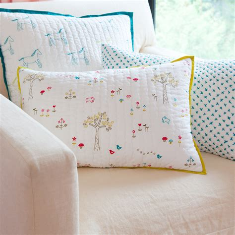 Quilted Pillow Covers by Rabbit Patch Decorative Quilted Pillow Cover By Auggie