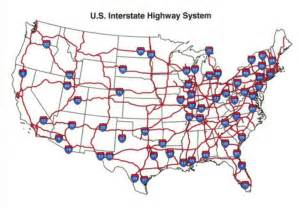 us road map with interstates on it map of the u s interstate highway system the interstate