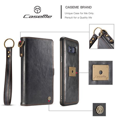 Emovable Card Wallet Flip Phone Skin Cover For Samsung S8 S8 Plus for samsung note 8 s8 s7 leather removable wallet flip