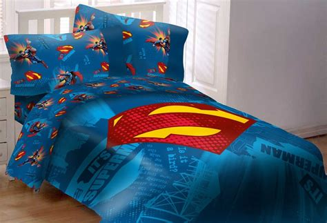 superman emblem 5 piece reversible super soft luxury full