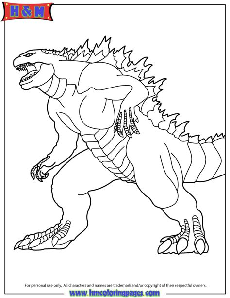 godzilla 2014 the movie coloring page h m coloring pages