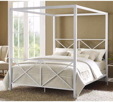 White Canopy Bed Frame Canopy Bed Frame White Home Design Ideas