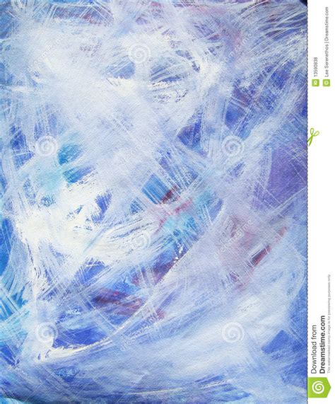 blue and white painting happy abstract acrylic art painting in blue white stock