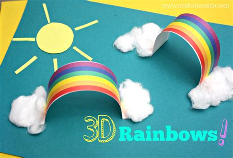 projects for preschoolers 3d rainbow activity m is for