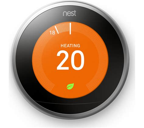 NEST Learning Thermostat   3rd Generation, Silver Deals   PC World