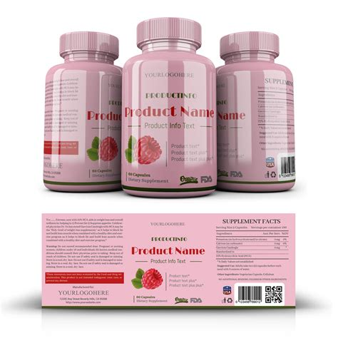 Supplement Label Template Yupidesigns Com Supplement Label Template