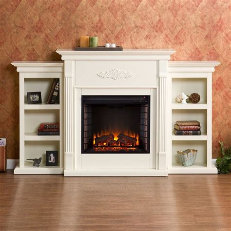 Entertainment Stand With Electric Fireplace by Electric Fireplace Tv Stand Ivory Entertainment Media