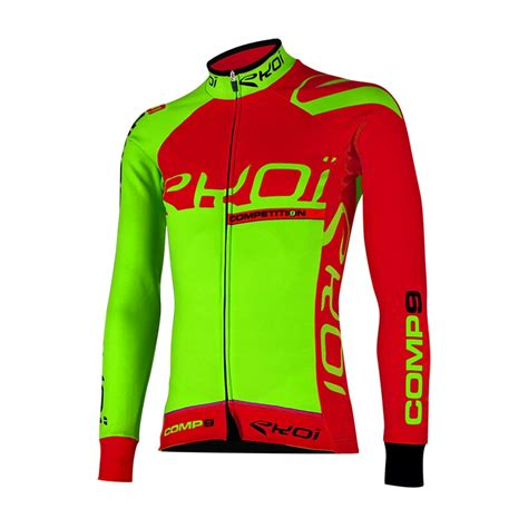 Neon Ls by Ekoi Competition9 Neon Green Ls Winter Jersey