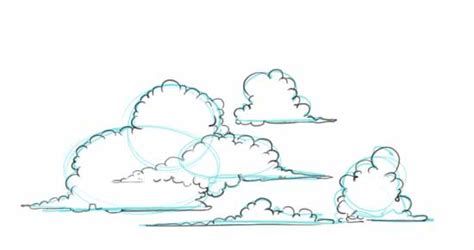 how to a cloud l how to draw clouds by