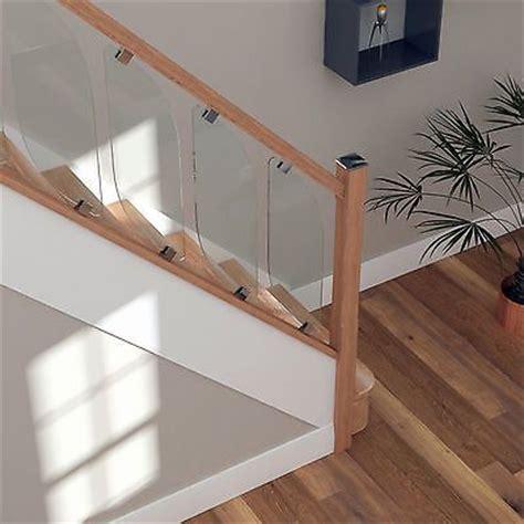 glass banisters for stairs best 25 oak handrail ideas on pinterest