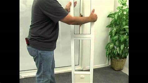 Installing The Modular Aluminum Patio Door By Idea Pet