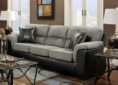 black and grey living room furniture roundhill furniture laredo 2 toned sofa and loveseat
