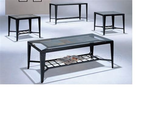 Modern Black Coffee Table Sets Black Finish Modern 3 Pc Coffee Table Set W Optional Sofa Table