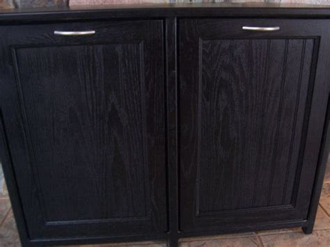double tilt out trash can cabinet new black painted wood double trash bin cabinet garbage