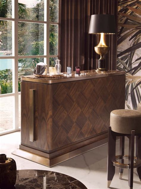 Harrys Furniture by Bar Table Wooden With Marble Top Harrys Smania Luxury Furniture Mr